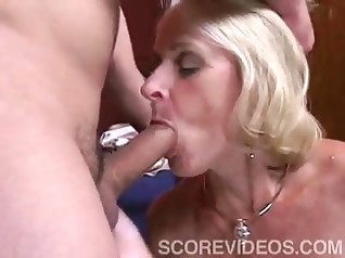 old & young blonde blowjob