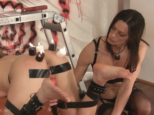 brunette bdsm blonde