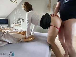 milf stockings creampie